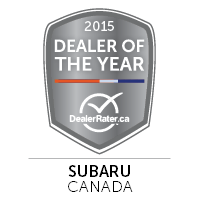 2015 Subaru Dealer of the Year Canada