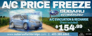 Price Freeze - Subaru - Newspaper Ad Design
