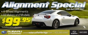 Subaru Alignment Sale - Newspaper Ad