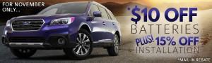 Subaru Battery Sale - Homeslider