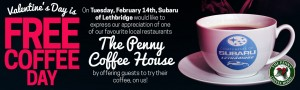 Free Coffee Day - Penny Coffee House - Homeslider