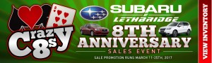 Crazy 8s - 8th Anniversary - Subaru - Homeslider