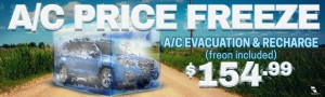 Price Freeze - Subaru - Homeslider