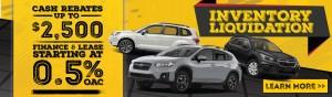 Inventory Liquidation - Subaru - HomePage_Slider