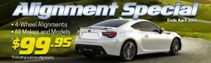 Subaru Alignment Sale - Homeslider